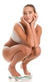 Woman on balance Stock Photos
