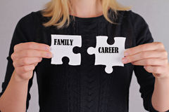 Woman balance between family and career Stock Image