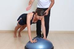 Woman balance training Royalty Free Stock Photos