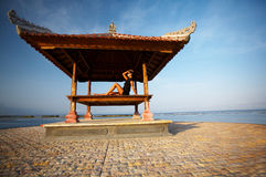 Woman at Bali seaside Royalty Free Stock Photos