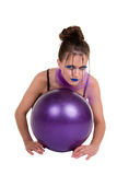 Woman with the ball Royalty Free Stock Photo