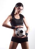 Woman with a ball Stock Photography