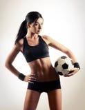 Woman with a ball Stock Photos
