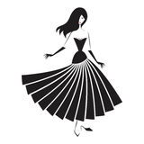 Woman in the ball gown silhouette Stock Photo
