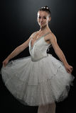 Woman Ballerina Ballet Dancer Dancing On Black Background Royalty Free Stock Photo