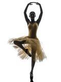 Woman  ballerina ballet dancer dancing silhouette Royalty Free Stock Photography