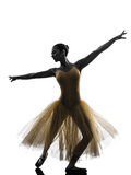 Woman  ballerina ballet dancer dancing silhouette Royalty Free Stock Photography
