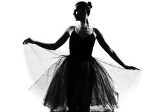 Woman ballet dancer Royalty Free Stock Image