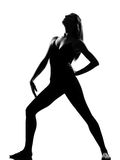 Woman ballet dancer standing pose Royalty Free Stock Photography
