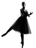 Woman ballet dancer standing pose Royalty Free Stock Image
