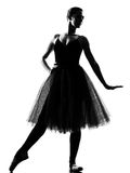 Woman ballet dancer standing pose Stock Photos