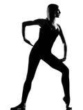 Woman ballet dancer standing pose Stock Image