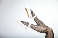 Woman ballet dancers legs Stock Photography