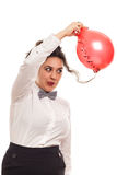 Woman with balloon Royalty Free Stock Images