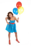 Woman with balloons Royalty Free Stock Photo