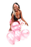 Woman with balloons. Stock Photo