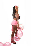 Woman with balloons. Stock Photos