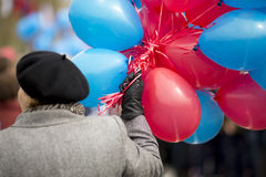 Woman with balloons Royalty Free Stock Photos