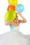 Woman with balls. stock photos