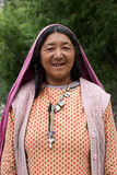 Woman from Baltistan, India Stock Images