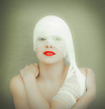 Woman in bandage Stock Images