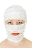 Woman with bandage Stock Image