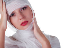 Woman in bandage Royalty Free Stock Photos