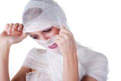 Woman in bandage Stock Photo