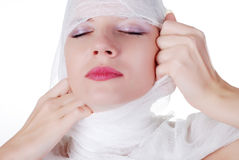 Woman in bandage Royalty Free Stock Photo