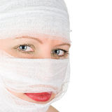 Woman with bandages Royalty Free Stock Photos