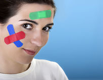 Woman with bandages Stock Photography