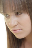 Woman with bangs Stock Photo