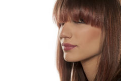 Woman with bangs Stock Photography