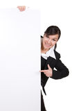 Woman with banner Stock Photography
