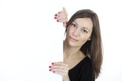 Woman banner add Royalty Free Stock Photo