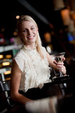 Woman In Bar Stock Photography