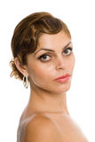 Woman with bare shoulders. Royalty Free Stock Images