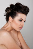 Woman with bare shoulders royalty free stock photos