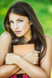 Woman with bare shoulders holding Royalty Free Stock Image