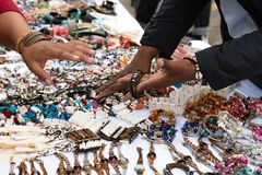 Accessories market royalty free stock photography