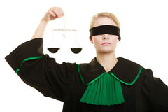 Woman barrister holding scales. Stock Photography