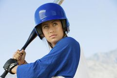 Woman With A Baseball Bat Royalty Free Stock Photography