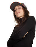 Woman in baseball cap Royalty Free Stock Photos