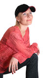 Woman with baseball cap Stock Photos