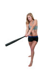 Woman Baseball Player Stock Photos