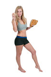 Woman Baseball Player Royalty Free Stock Image