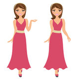 Woman basic pose set Royalty Free Stock Photo