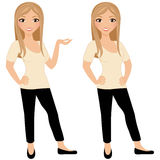 Woman basic pose set Royalty Free Stock Photography