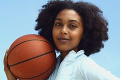 Woman With Basketball Royalty Free Stock Photo