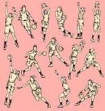 Woman Basketball Action Sport Stock Photos